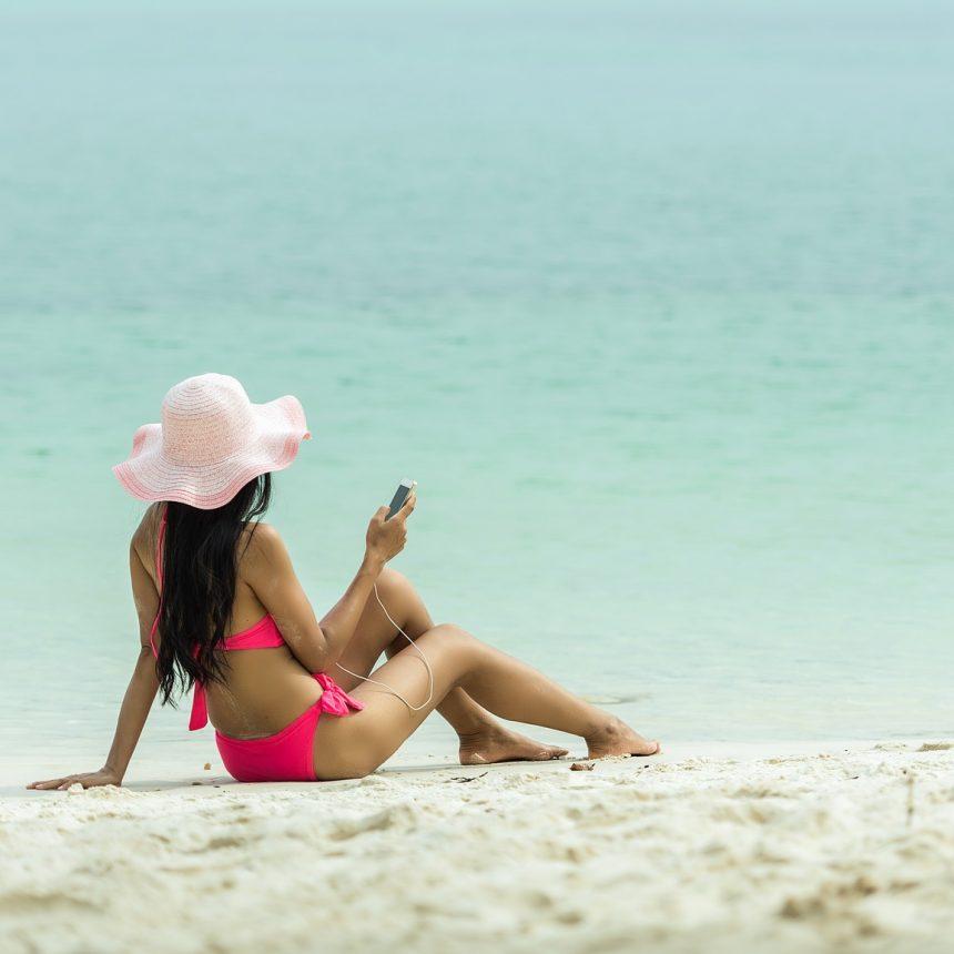 Electrónica en la playa